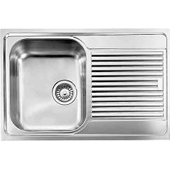 Cm Lavelli 010241 Sx Flush-mount sink cm. 79 x 50 satin stainless steel 1 left basin + right draining board Zenith Filotop