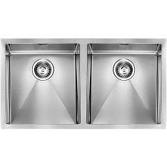 Cm Lavelli 01202c 89 x 45 cm slim sink 2 basins - satin stainless steel Filoraggiato