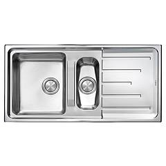 Cm Lavelli 015105 Built-in sink cm. 100 x 50 - satin stainless steel - 1 bowl + 1/2 with reversible drainer Brando