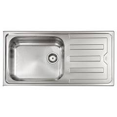 Cm Lavelli 010016 Built-in sink cm. 100 x 50 - stainless steel - 1 basin with reversible drainer Cristal