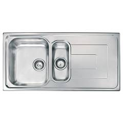 Cm Lavelli 010145 Built-in sink cm. 100 x 50 - stainless steel - 1 bowl + 1/2 with reversible drainer Como