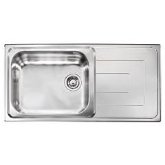 Cm Lavelli 010146 Built-in sink cm. 100 x 50 - stainless steel - 1 basin with reversible drainer Como