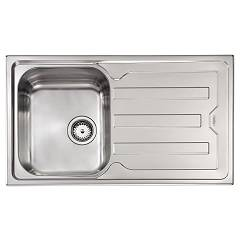 Cm Lavelli 010043 Sx Sink filotop cm. 86 x 50 satined stainless steel 1 layer tank + right drawner Cristal Filotop