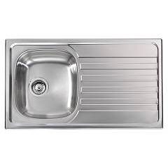 Cm Lavelli 010843 Sx Sink cm. 86 x 50 - 1 left tank + right drainer - satin stainless steel Nihal