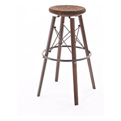 Colico Jack Stool in wood and metal h75 sitting in cork