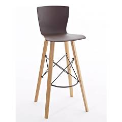 Colico Rapwood.ss Stool in wood and polypropylene h90