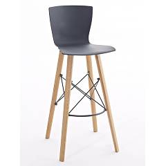 Colico Rapwood.ss Stool in wood and polypropylene h100