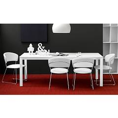Photos 2: Connubia Calligaris EMINENCE CB/4724-MG 110 Extendible table l. 110 x 70 glass top