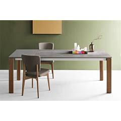 Photos 3: Connubia Calligaris EMINENCE CB/4724-WC 130 A Extendible table l. 130 x 90 - 1 extended ceramic floor