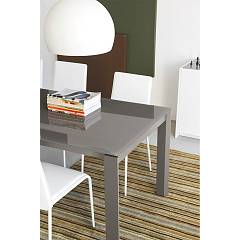Photos 4: Connubia Calligaris EMINENCE CB/4724-WG 130 A Extendible table l. 130 x 90 - 1 extended glass top