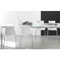 Photos 3: Connubia Calligaris EMINENCE CB/4724-MG 130 B Extendible table l. 130 x 90 - 2 glass floor layers