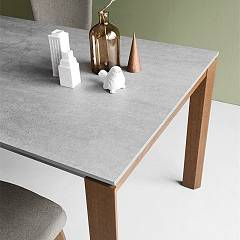 Photos 3: Connubia Calligaris EMINENCE CB/4724-WC 160 A Extendible table l. 160 x 90 - 1 entirely floor in ceramic