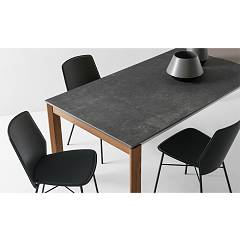 Photos 4: Connubia Calligaris EMINENCE CB/4724-WC 160 A Extendible table l. 160 x 90 - 1 entirely floor in ceramic