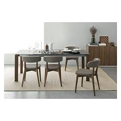 Photos 2: Connubia Calligaris EMINENCE CB/4724-WG 160 A Extendible table l. 160 x 90 - 1 extension glass top