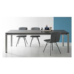 Photos 4: Connubia Calligaris EMINENCE CB/4724-MC 160 B Extendible table l. 160 x 90 - 2 ceramic floor layout