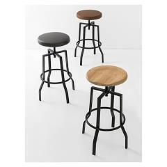 Photos 2: Connubia Calligaris ROCKET CB/1960-S Stool in metal and eco-leather