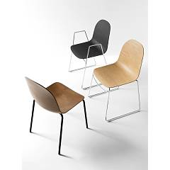 Photos 2: Connubia Calligaris ACADEMY CB/1696-3D Stackable chair in metal and wood