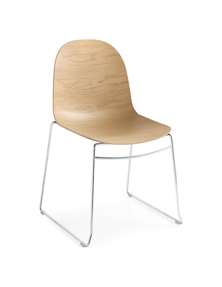 Photos 1: Connubia Calligaris ACADEMY CB/1696-3D Stackable chair in metal and wood