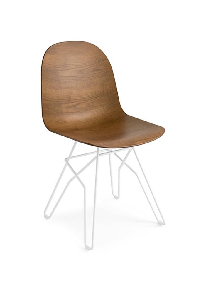 Photos 1: Connubia Calligaris ACADEMY CB/1664-3D Chair in metal and wood