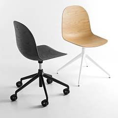 Photos 2: Connubia Calligaris ACADEMY CB/1694-3D 180 Revolving chair in metal and wood