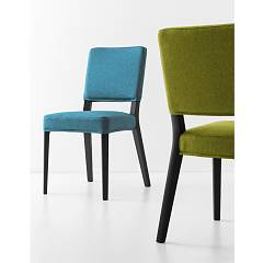 Photos 3: Connubia Calligaris AURORA CB/1693-C Chair in wood and fabric removable version