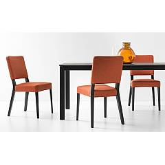 Photos 4: Connubia Calligaris AURORA CB/1693-C Chair in wood and fabric removable version