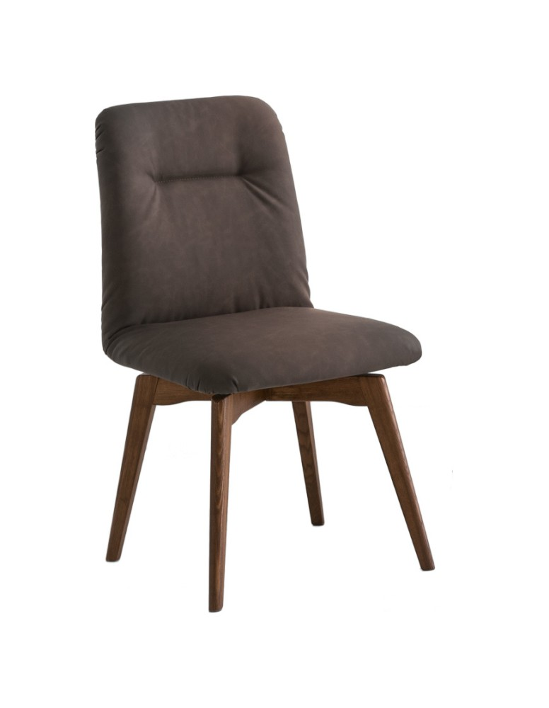 Photos 1: Connubia Calligaris GRETA CB/1949-V Chair in wood and eco-leather