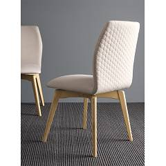 Photos 2: Connubia Calligaris HEXA CB/1937 Swivel chair in wood and fabric / eco-leather