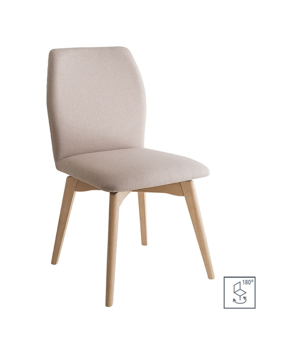 Photos 1: Connubia Calligaris HEXA CB/1937 Swivel chair in wood and fabric / eco-leather