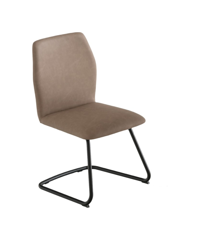 Photos 1: Connubia Calligaris HEXA CB/1935 Chair in metal and fabric / eco-leather