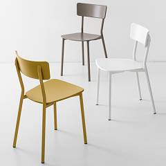 Photos 3: Connubia Calligaris JELLY METAL CB/1954 Metal and plastic chair