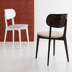 Photos 2: Connubia Calligaris ROBINSON SOFT CB/1436-S Chair in wood and fabric / eco-leather