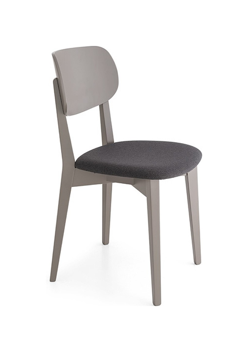 Photos 1: Connubia Calligaris ROBINSON SOFT CB/1436-S Chair in wood and fabric / eco-leather