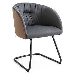 Connubia Calligaris Rosie Soft Cb/1921 Armchair in metal and fabric / eco-leather