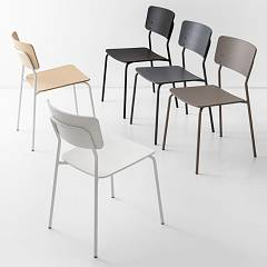 Photos 4: Connubia Calligaris SNACK CB/1956 Chair in metal and wood