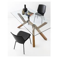 Photos 2: Connubia Calligaris MIKADO CB/4728-RC 160 V Fixed table l. 160 x 90 glass top