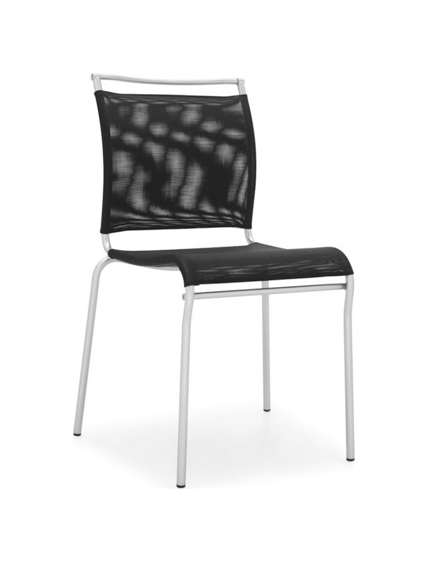 Connubia Calligaris AIR CB/93 Stackable Chair In Metal And Mesh