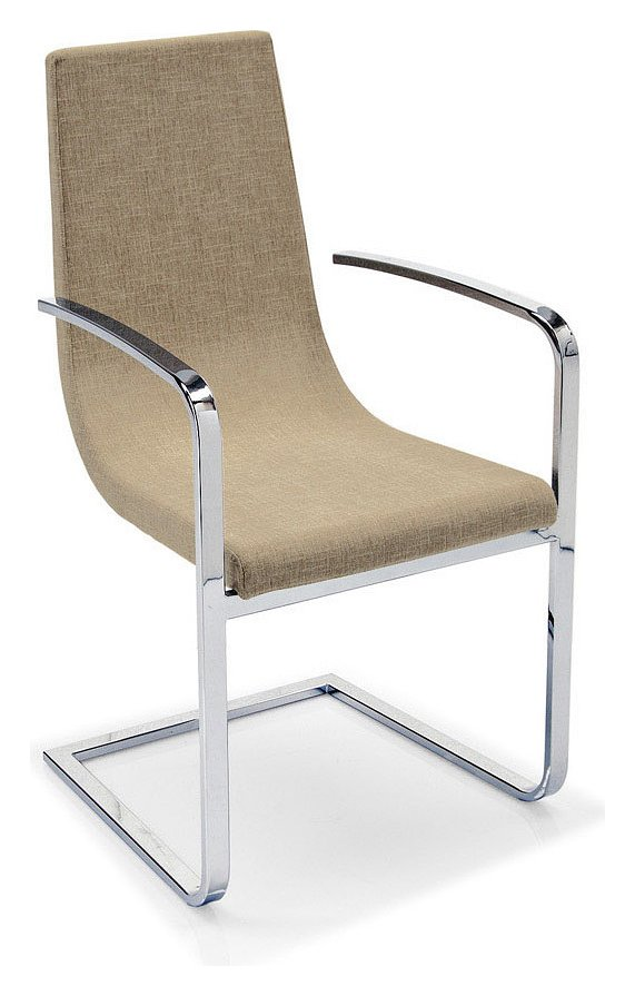 connubia calligaris cruiser cb 1097 armchair in metal and fabric