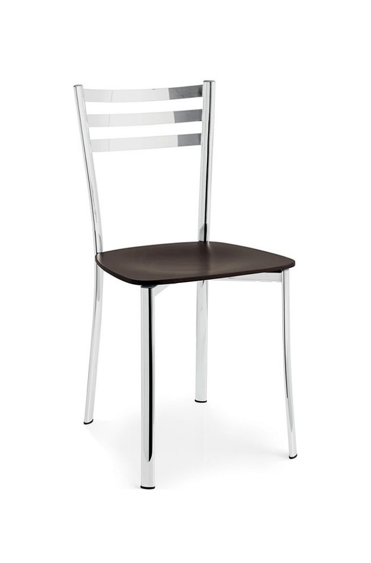 Photos 1: Connubia Calligaris Chair in metal and plastic / wood / leather ACE CB/1320