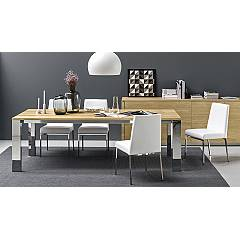 Connubia Calligaris Amsterdam Chair - metal frame with eco-leather seat | skin