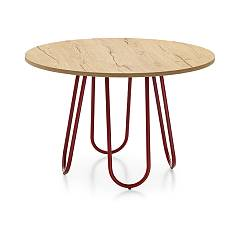 Connubia Stulle Table Table with metal structure and top in melamine lacquered | hpl | laminate
