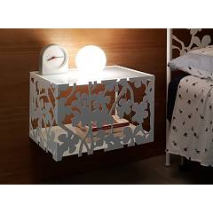 Cosatto Flower Wall-hung twin bedside with two shelves cm. 46 x 38 x 31h