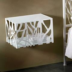 Cosatto Green Bedside suspended in iron with two shelves cm. 46 x 38 x 31h