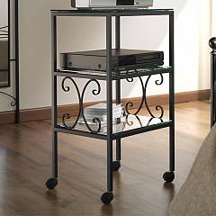 Cosatto Ritz Tv stand chamber iron and glass shelves cm. 50 x 40 x 90h