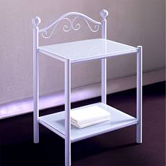 Cosatto Romanza Bedside steel with glass shelves cm. 52 x 37 x 74h