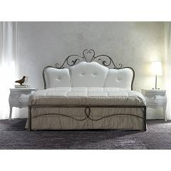 Cosatto Norma Double bed in iron with upholstered headboard