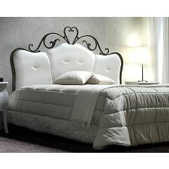 Cosatto Norma Double bed in iron with container with upholstered headboard