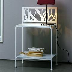 Cosatto Green Comodino in support with two shelves in glass cm. 49.5 x 38.5 x 77.5