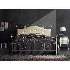 Cosatto Venus Double bed in iron with upholstered headboard