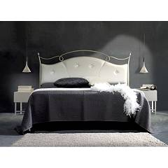 Cosatto Venus Double bed in iron with container with upholstered headboard